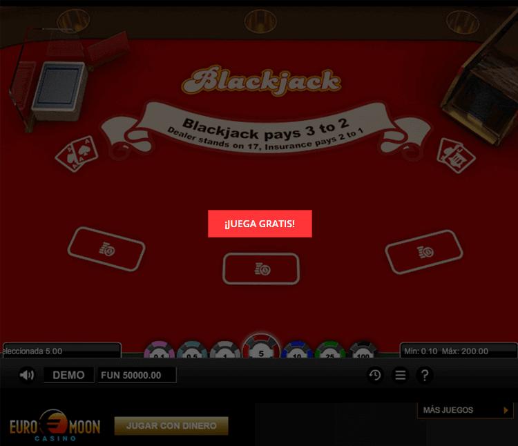 juego blackjack gratis