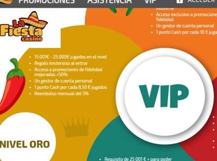 La Fiesta Casino Bonos VIP