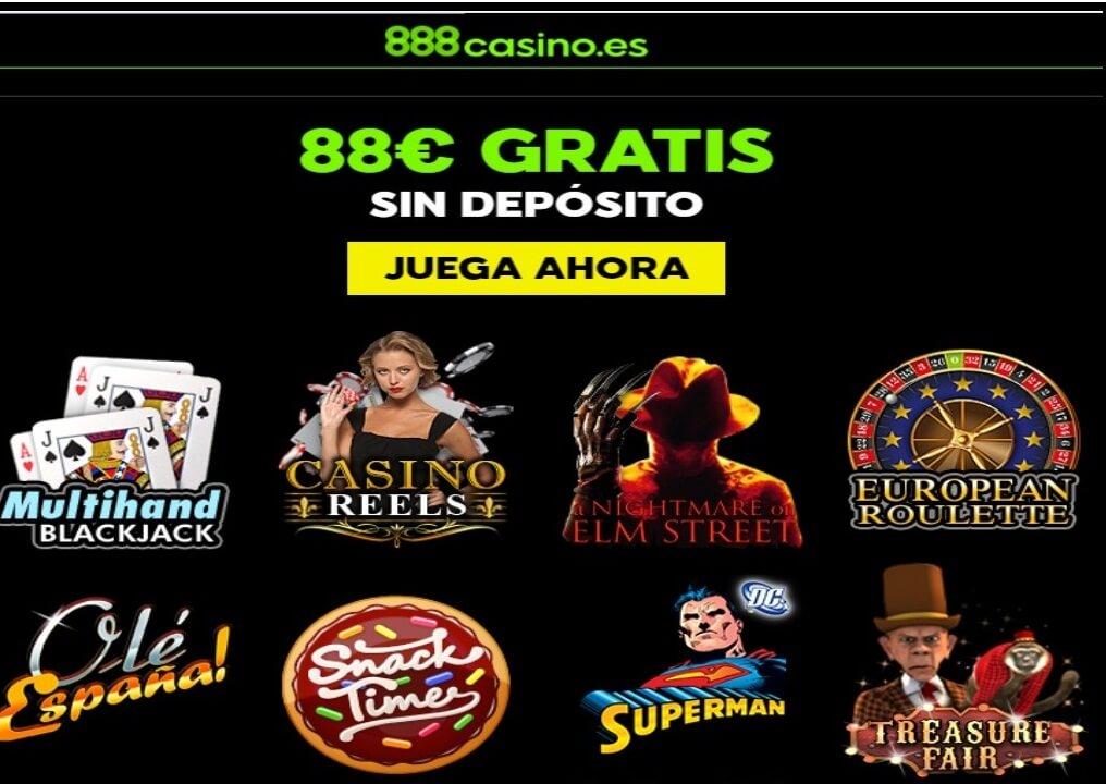 888 Casino Bono por registro hasta por 88 euros