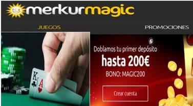 200 euros adicionales con Merkurmagic por primer depósito