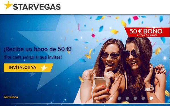 Bono de bienvenida Casino Starvegas de hasta 200 euros